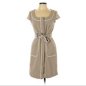 Sandra Darren Beige Casual Dress Sz 6P